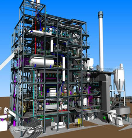 The Cofely GDF-SUEZ cogeneration plant is being built in Orleans, France