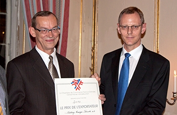AET awarded The French-Danish Trade Union (Chambre de Commerce Franco-Danoise) Export Price 2010.