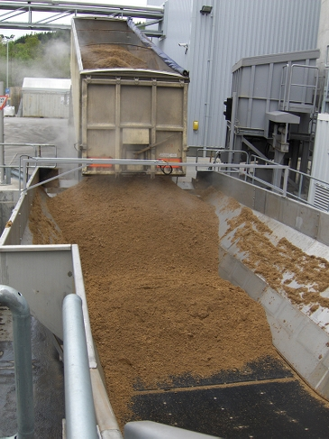 Draff and clean wood used as fuel at the Rothes CoRDe plant
