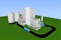 3D image of the CHP plant