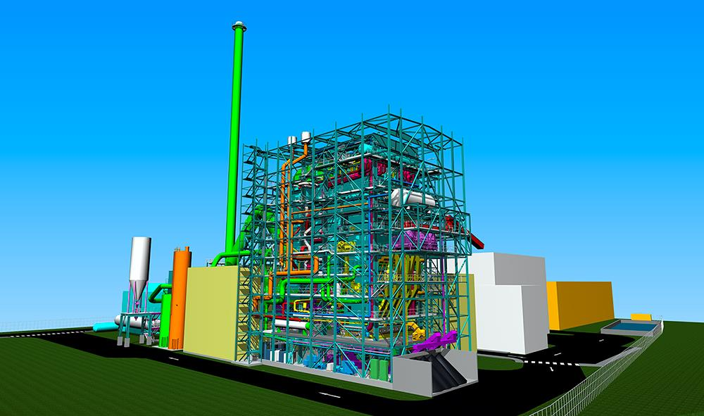 A 3D Illustration of the Tilbury Green Power plant.