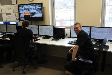 The AET Scada system allows the customer to closely monitor and control the combustion process and the well functioning of the entire biomass plant. Control room at the Helius power plant