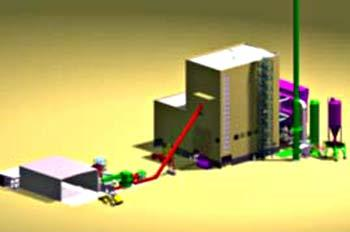 A 3D view of the AET Biomass CHP Station commissioned in 2002.