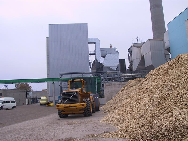 The Linz Mitte energy plant uses clean wood for fuel