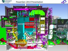 3D illustration of the Zignago power plant